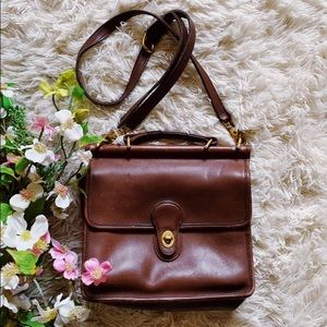 Vtg Coach Classic Brown Leather Crossbody Bag